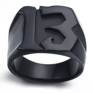 Lucky 13 Titanium Steel Ring