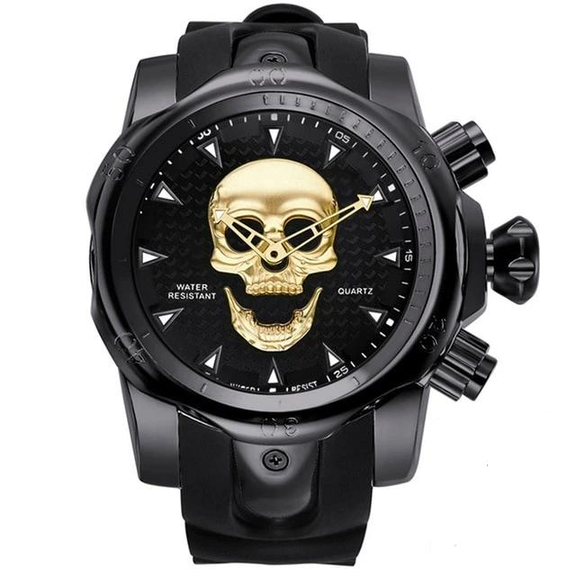 Rubber Strap Skull Watch