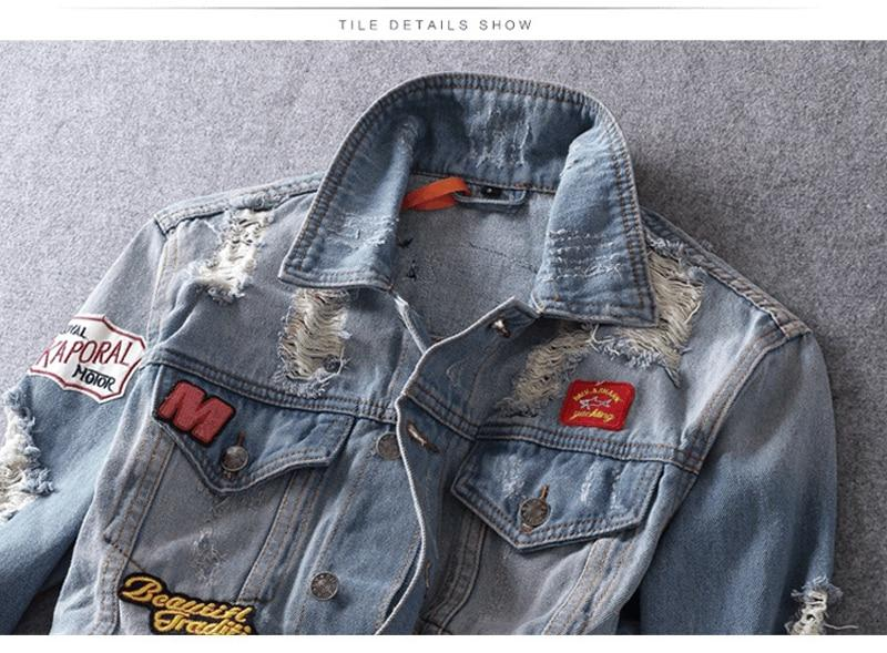 Patches Denim Jacket for Rider