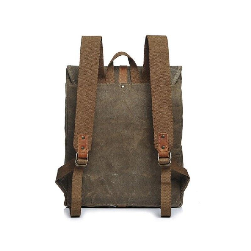 Canvas Leather Retro Backpacks - BrapWrap
