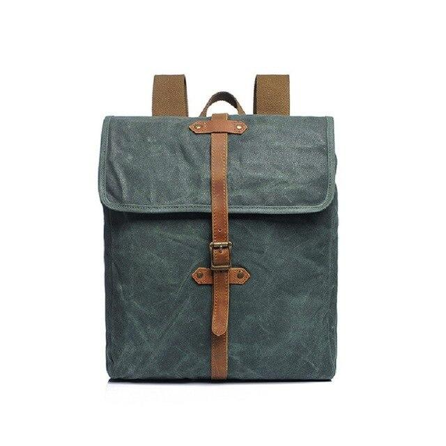 Canvas Leather Retro Backpacks