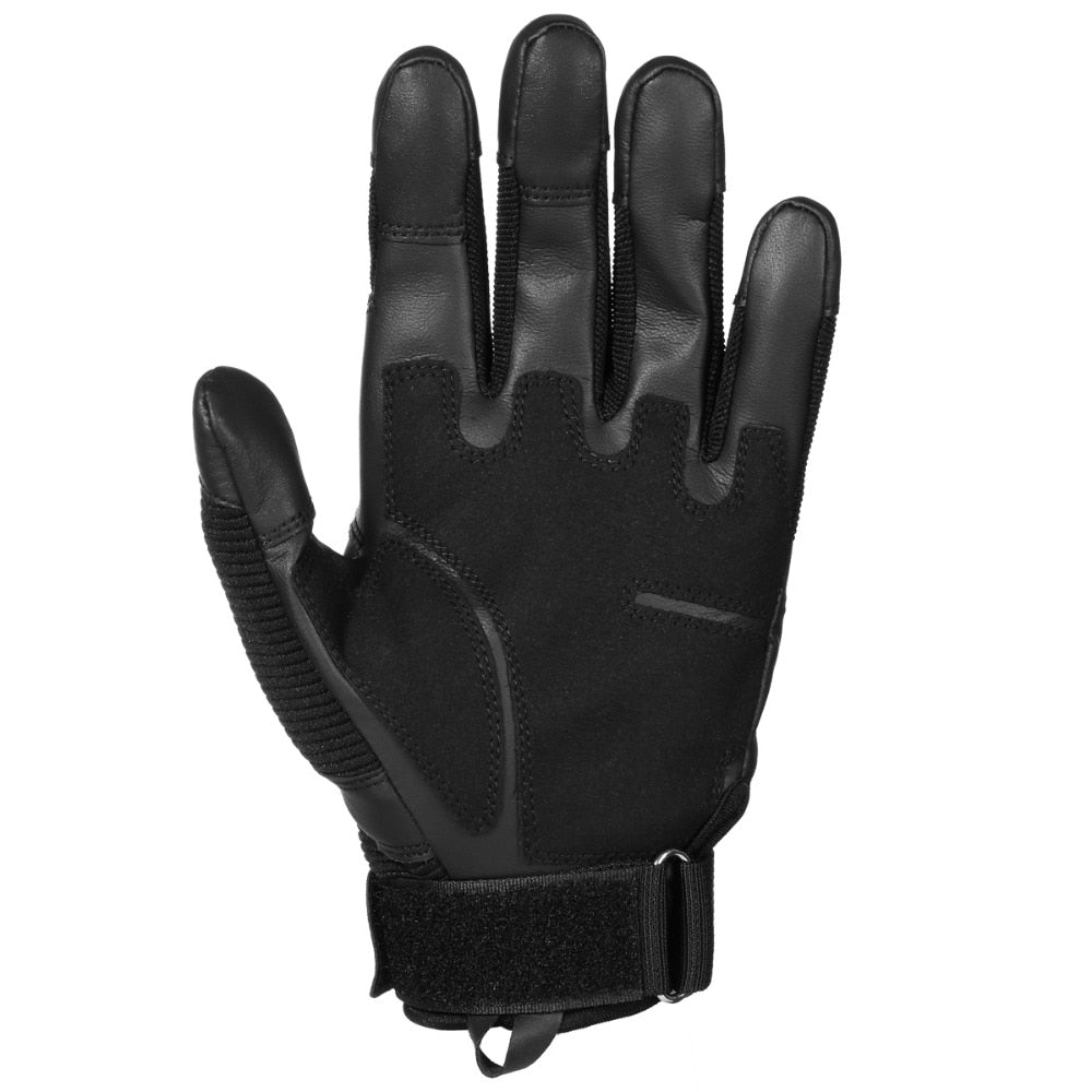 Touch Screen Men Combat Motorcross Gloves Carbon Knuckle Full Finger Mittens