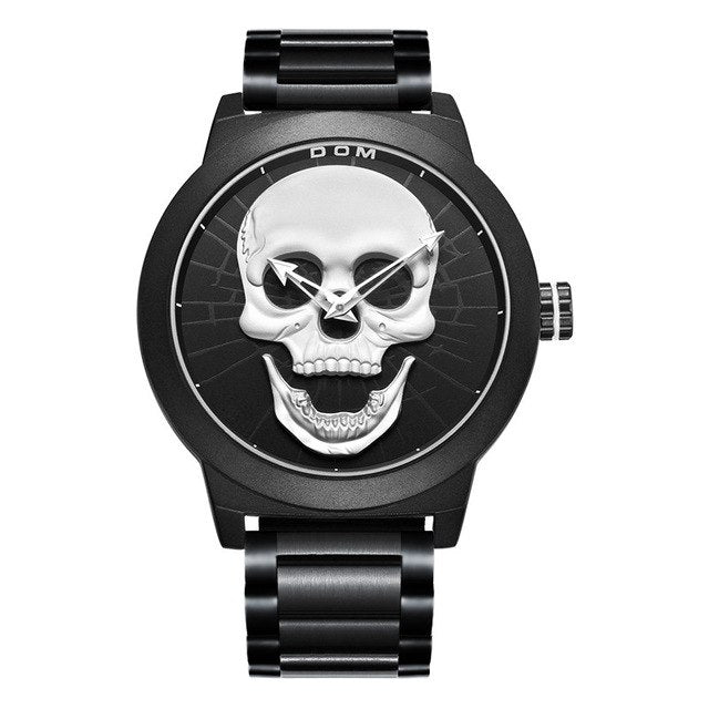Skull Wristwatch for Bikers
