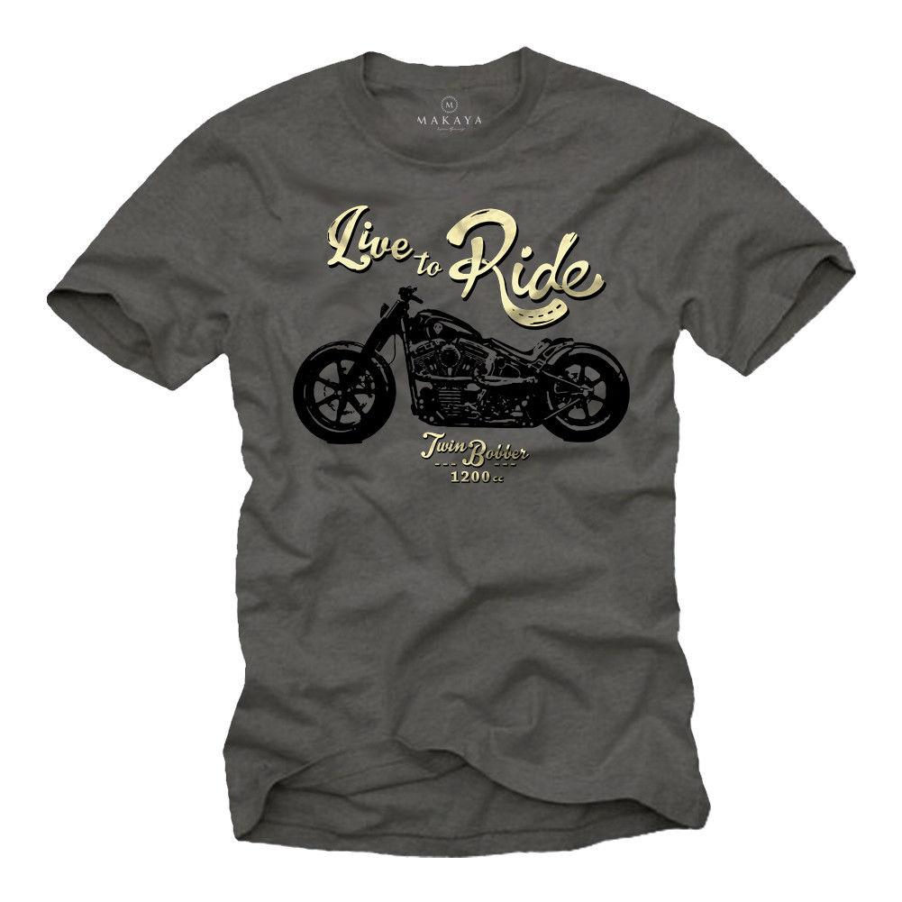 Live to Ride Bobber T Shirt - BrapWrap
