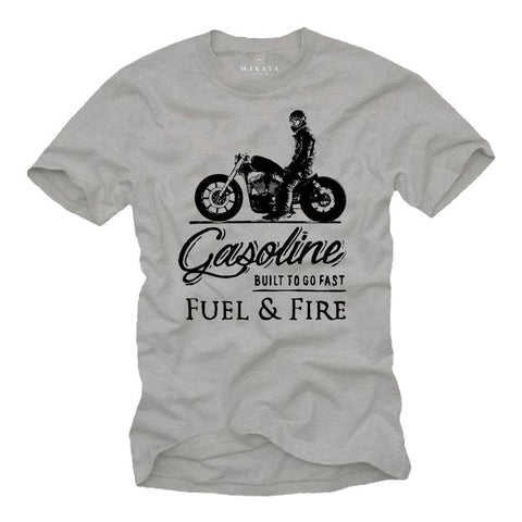 Gasoline Fuel & Fire T Shirt - BrapWrap