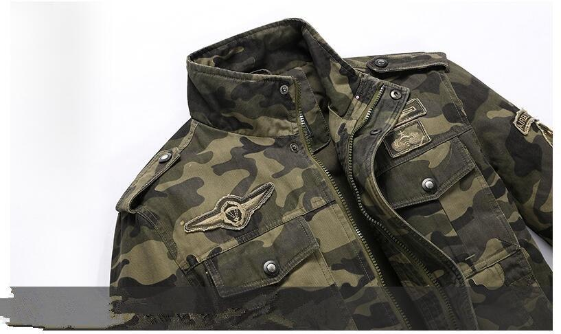 Cotton Military Bomber Jacket - BrapWrap