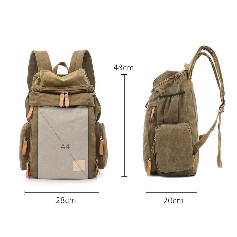 Canvas Casual Fashion  Backpack - BrapWrap