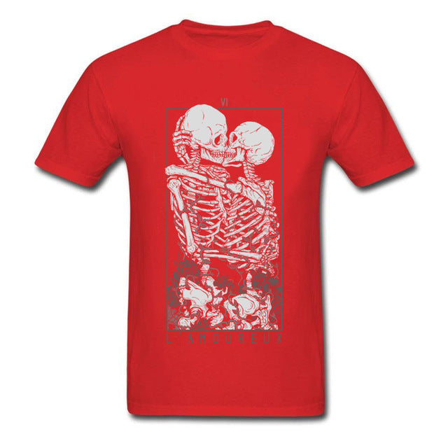 The Lovers Sweet Kiss Skull Cotton T Shirt