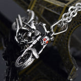 Skull Motorcycle Pendant Necklace