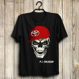 Red Hat Skull T Shirt - BrapWrap