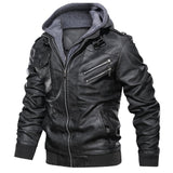 Slim Fit PU Leather Jacket for Rider