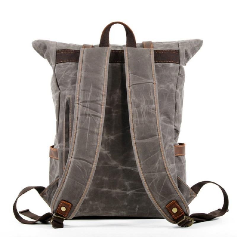Luxury Vintage Multi Pocket Canvas Backpack - BrapWrap