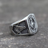 Scottish Rite Masonic Skull Ring