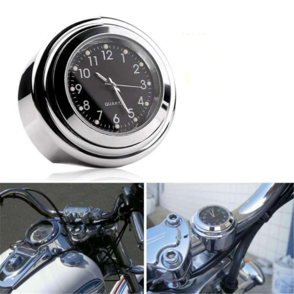 Chrome Motorcycle Bike Handlebar Aluminum Clock