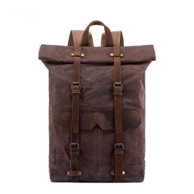 Unisex Oil Waxed Travel Rucksacks