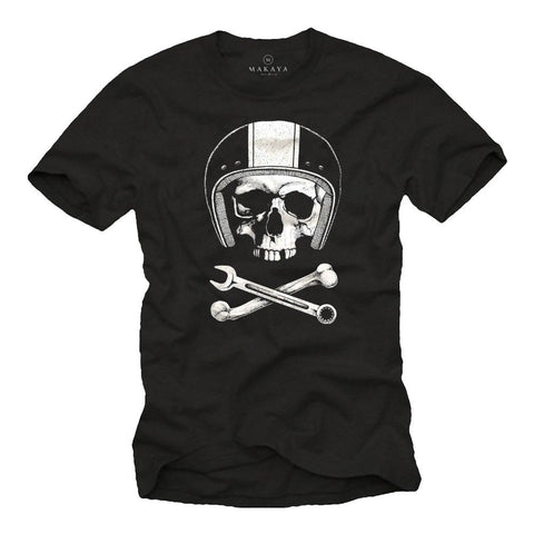 The Moto Skull T Shirt