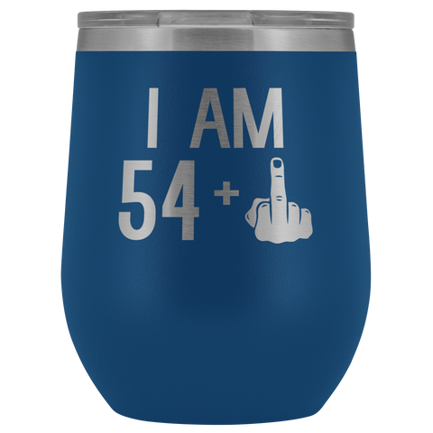 Image of 54 + 1 Middle Finger - Wine Tumbler