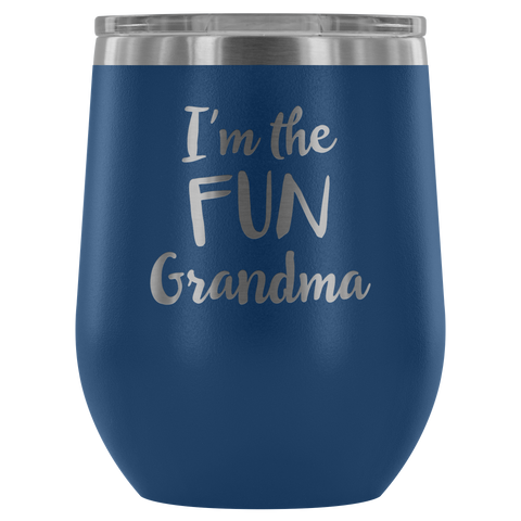 Image of I'm the Fun Grandma - Wine Tumbler