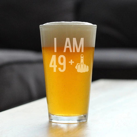 Image of 49 + 1 Middle Finger - 16 Ounce Pint Glass
