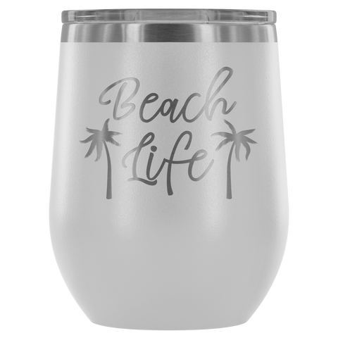 Image of Beach Life - Wine Tumbler