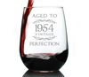 Aged to Perfection 1954 Vintage - 17 Ounce Stemless Wine Glass