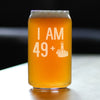 49 + 1 Middle Finger - 16 Ounce Beer Can Pint Glass