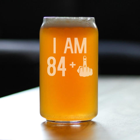 84 + 1 Middle Finger - 16 Ounce Beer Can Pint Glass