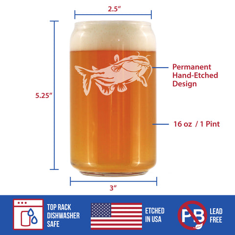 Image of Catfish - 16 Ounce Beer Can Pint Glass