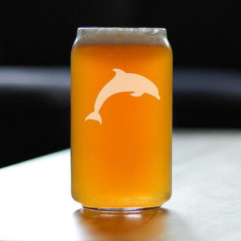 Image of Dolphin - 16 Ounce Beer Can Pint Glass