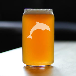 Dolphin - 16 Ounce Beer Can Pint Glass