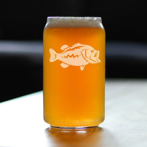 Largemouth Bass - 16 Ounce Beer Can Pint Glass