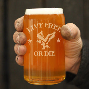 Live Free or Die - 16 Ounce Beer Can Pint Glass