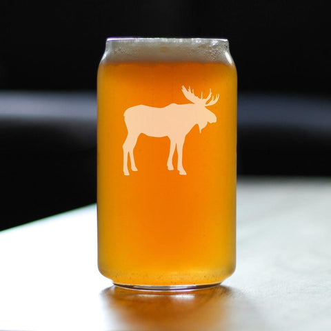 Image of Moose - 16 Ounce Beer Can Pint Glass