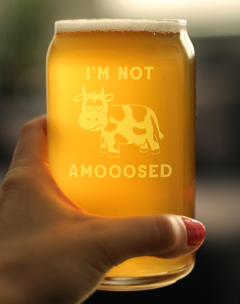 I'm Not Amooosed - 16 Ounce Beer Can Pint Glass