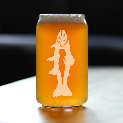 Image of Trout - 16 Ounce Beer Can Pint Glass