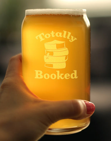 Image of Totally Booked - 16 Ounce Beer Can Pint Glass