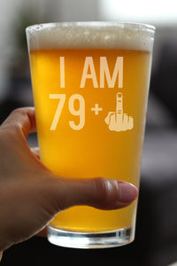 79 + 1 Middle Finger - 16 Ounce Pint Glass