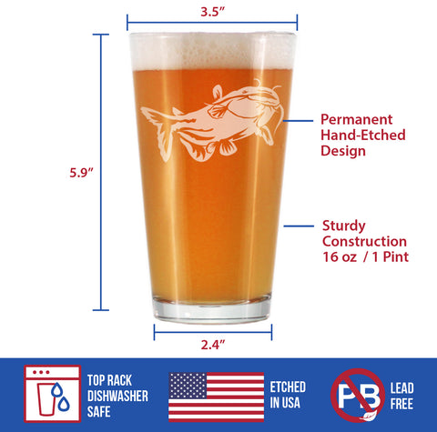 Catfish - 16 Ounce Pint Glass