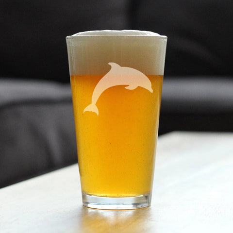 Dolphin - 16 Ounce Pint Glass