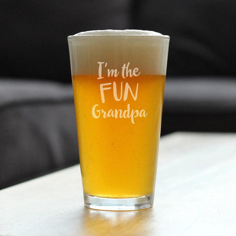 I'm The Fun Grandpa - 16 Ounce Pint Glass