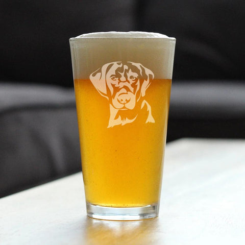Labrador Face - 16 Ounce Pint Glass