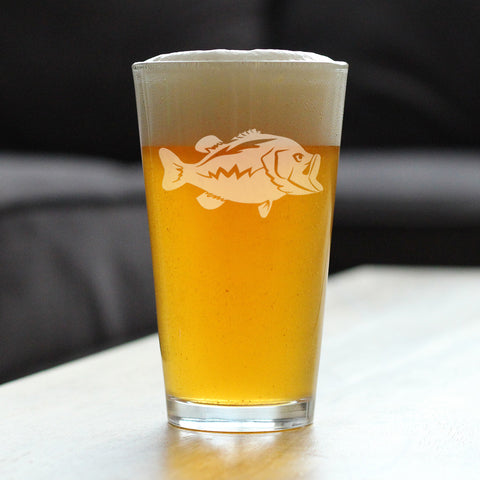 Largemouth Bass - 16 Ounce Pint Glass