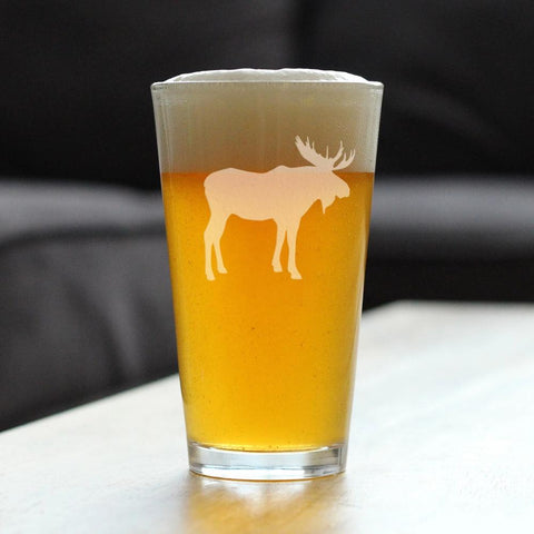 Image of Moose - 16 Ounce Pint Glass