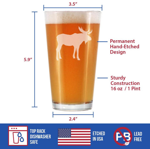 Moose - 16 Ounce Pint Glass