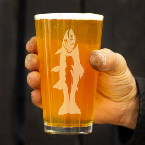Image of Trout - 16 Ounce Pint Glass