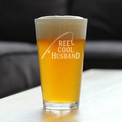 Reel Cool Husband - 16 Ounce Pint Glass