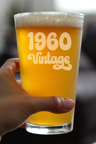 Vintage 1960 - 16 Ounce Pint Glass
