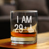 29 + 1 Middle Finger - 10 Ounce Rocks Glass