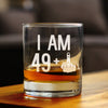 49 + 1 Middle Finger - 10 Ounce Rocks Glass