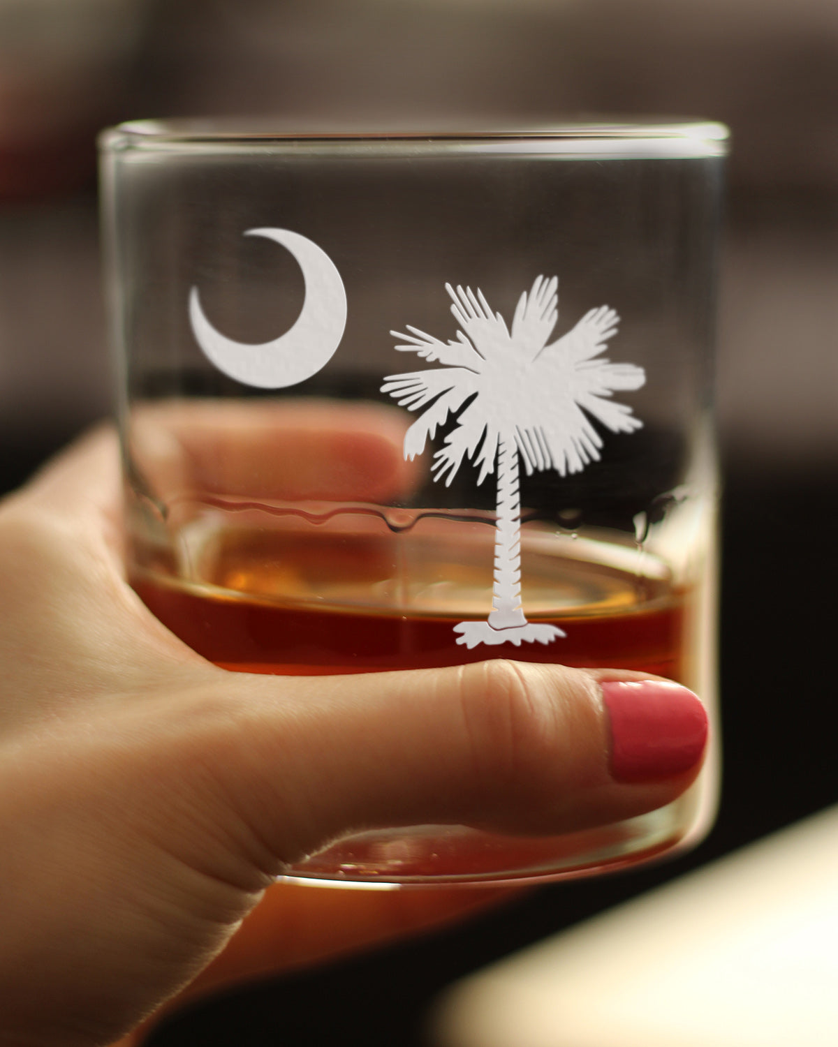 South Carolina Flag - 10 Ounce Rocks Glass